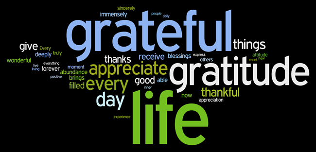 Gratitude Word Art