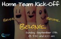 Home Team Kick-off: September 17th