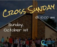Cross Sunday: October 1st