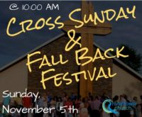 Cross Sunday: Fall Back 2017