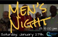 Men's Night: Saturday, January 27th at 5:00 pm